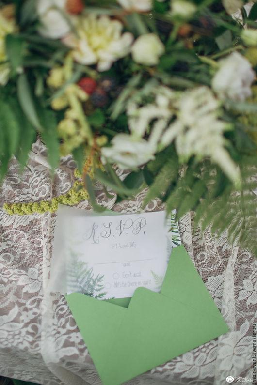 Свадебные аксессуары ручной работы. Ярмарка Мастеров - ручная работа. Купить Приглашение на свадьбу, пригласительный. Handmade. Приглашение на свадьбу