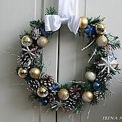 Подарки к праздникам ручной работы. Ярмарка Мастеров - ручная работа Рождественский венок на дверь # 1. Handmade.