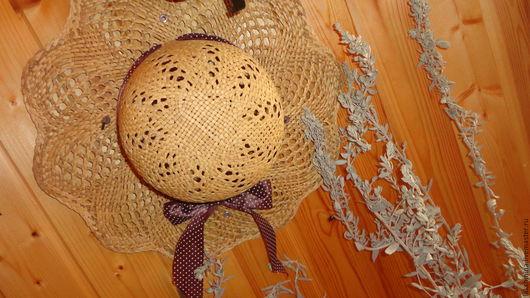Винтажная одежда и аксессуары. Ярмарка Мастеров - ручная работа. Купить Шляпка для блондинки..(соломка).. Handmade. Желтый, шляпка