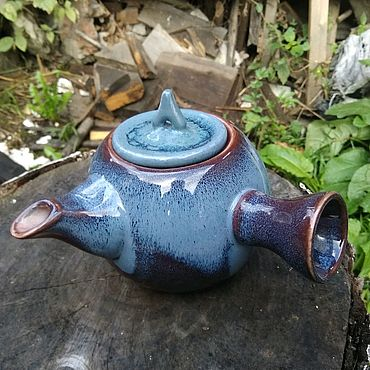 Посуда ручной работы. Ярмарка Мастеров - ручная работа Чайник в японском стиле, 350 мл, можно заказать к нему чашечки.. Handmade.