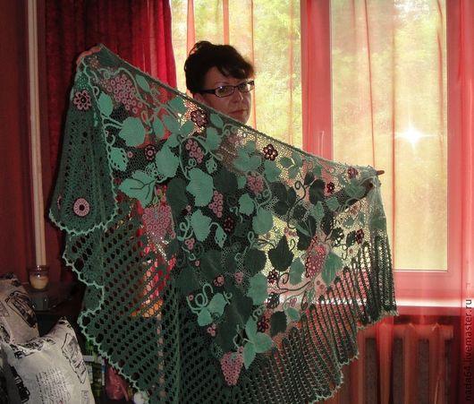 Шали, палантины ручной работы. Ярмарка Мастеров - ручная работа. Купить шаль. Handmade. Ирландское кружево, цветочный
