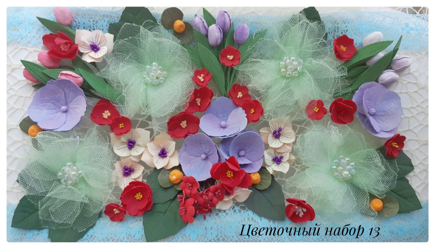 handmade flowers. scrapbooking. Materials for greeting cards. Creativity, Flowers artificial, St. Petersburg,  Фото №1