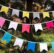 Для дома и интерьера handmade. Livemaster - original item A garland of mini-flags. for photo shoots. Handmade.