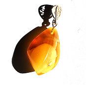 """Украшения ручной работы. Ярмарка Мастеров - ручная работа Янтарь. Кулон  """"Выходной день"""".. Handmade."""