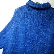 """Одежда ручной работы. Ярмарка Мастеров - ручная работа Джемпер пончо """"Голубика"""". Handmade."""