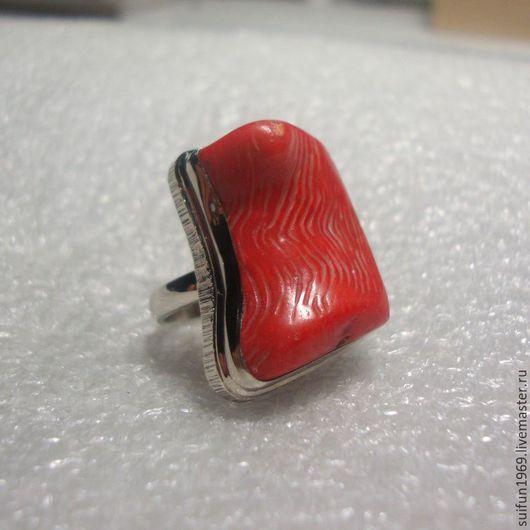 """Кольца ручной работы. Ярмарка Мастеров - ручная работа. Купить Кольцо """"Филе лосося"""".. Handmade. Кольцо с кораллом, подарок"""