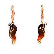 Украшения handmade. Livemaster - original item Earrings silver with amber