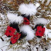 Аксессуары handmade. Livemaster - original item Mittens Floral fantasy. Handmade.