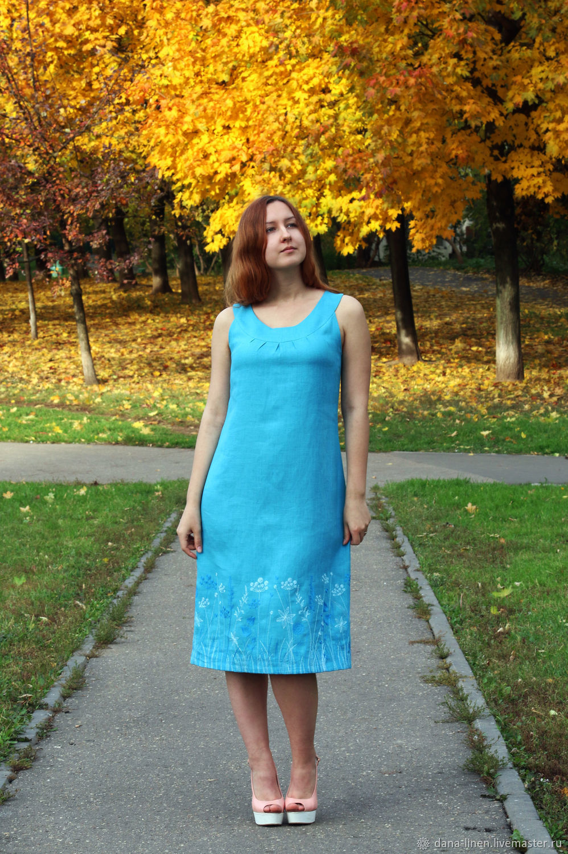 Linen dress ' Polyushko', Dresses, Moscow,  Фото №1