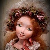 Куклы и игрушки ручной работы. Ярмарка Мастеров - ручная работа Будуарная куколка в Солнечных осенних тонах. Handmade.