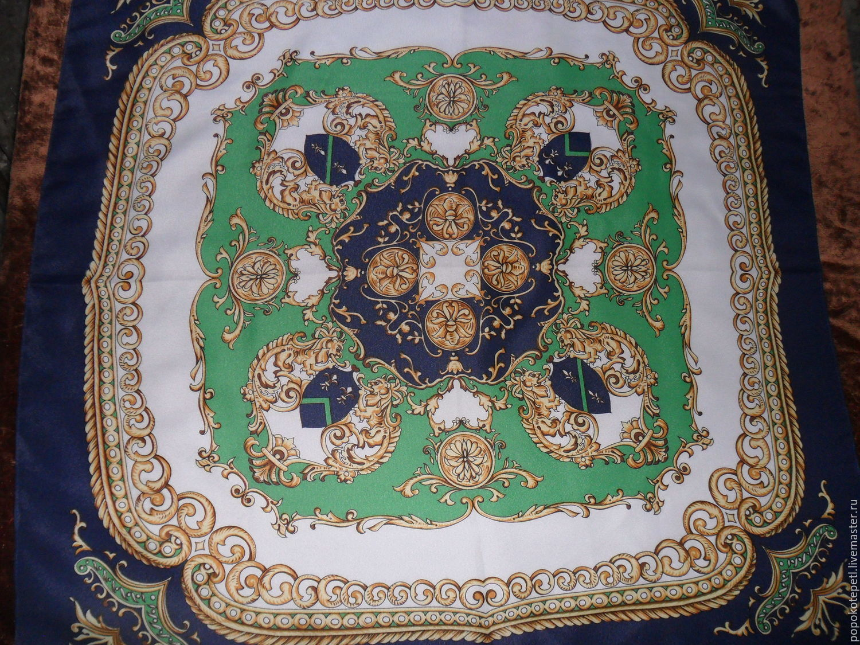 A scarf in a Baroque style,100% silk,Austria, Vintage accessories, Novorossiysk,  Фото №1