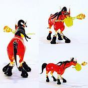 Куклы и игрушки handmade. Livemaster - original item Interior figurine made of colored glass Horse breed weird. Handmade.