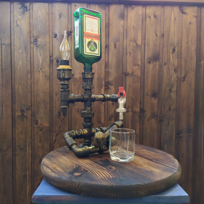 Dispenser lamp 'Bartender' loft metal, Table lamps, St. Petersburg,  Фото №1