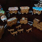 Сувениры и подарки ручной работы. Ярмарка Мастеров - ручная работа пряничный паровоз, съедобный. Handmade.