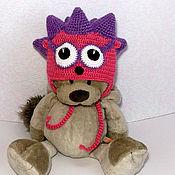 Работы для детей, ручной работы. Ярмарка Мастеров - ручная работа шапочка смешарики Ежик (шапка теплая зимняя с ушками). Handmade.