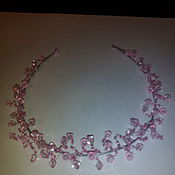 Работы для детей, ручной работы. Ярмарка Мастеров - ручная работа Розовая диадема. Handmade.