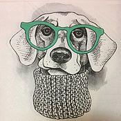 Материалы для творчества handmade. Livemaster - original item 541.  Napkin for decoupage Dog. Handmade.