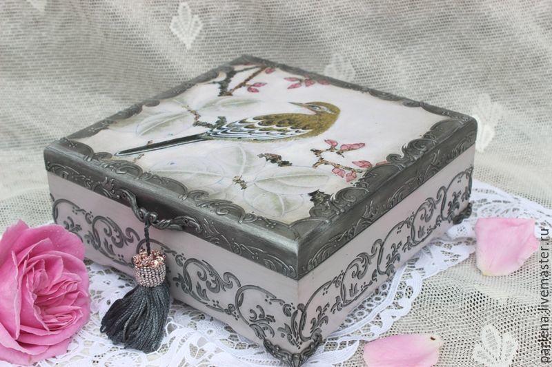 Шкатулка для украшений Императорский сад Подарок женщине, Шкатулки, Москва,  Фото №1
