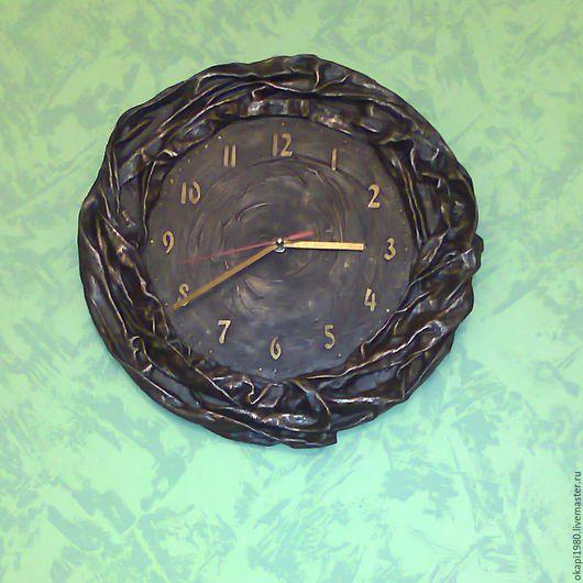 Часы для дома ручной работы. Ярмарка Мастеров - ручная работа. Купить Часы настенные Шелковый шоколад. Handmade. Коричневый