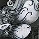 Кулон `Зимний ветер` Материалы: полимерная глина, пастель, металлический порошок, лак. Размер 6 см