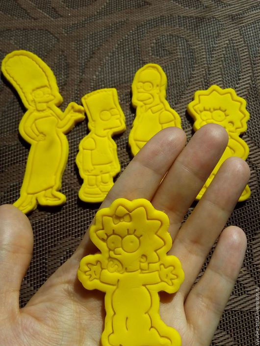 Кухня ручной работы. Ярмарка Мастеров - ручная работа. Купить Симпсоны (шт.) - вырубка для печенья, пряников, мастики. Handmade.