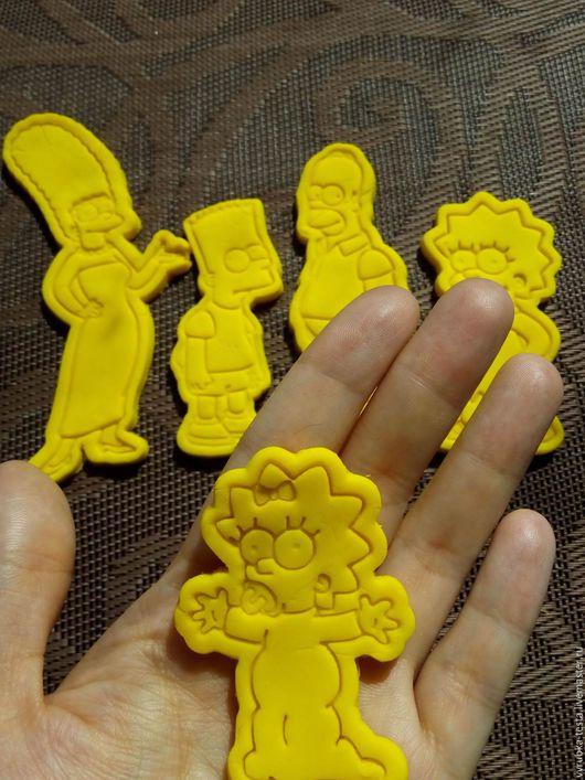 Кухня ручной работы. Ярмарка Мастеров - ручная работа. Купить Симпсоны - вырубка для печенья, пряников, мастики. Handmade. Вырубка для теста
