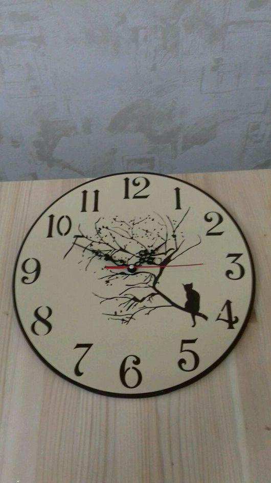 "Часы для дома ручной работы. Ярмарка Мастеров - ручная работа. Купить Настенные часы ""Лунный свет"". Handmade. Часы, луна"