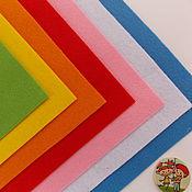 Материалы для кукол и игрушек ручной работы. Ярмарка Мастеров - ручная работа Набор мягкого корейского фетра 7 цветов 20х30. Handmade.