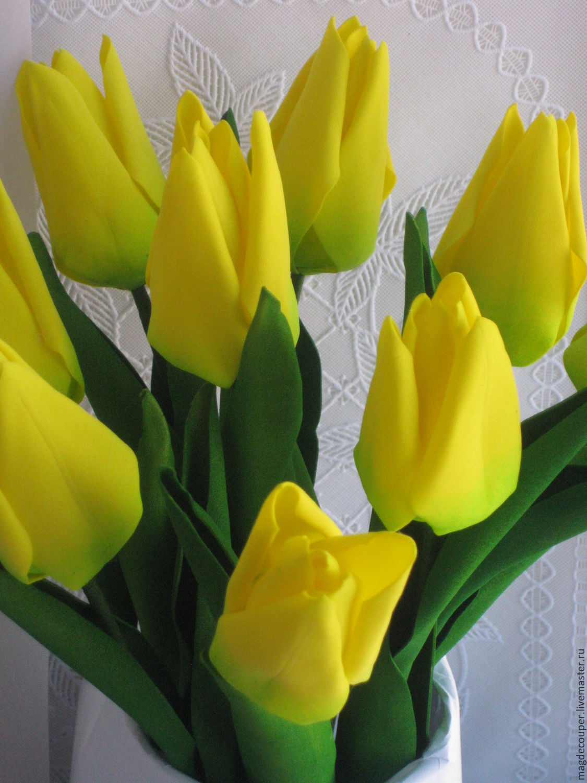 Тюльпаны из фома мастер класс