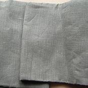 Материалы для творчества ручной работы. Ярмарка Мастеров - ручная работа Бронь. Лён Натур. Тёмный серый Плотный  2  отреза цена в описании. Handmade.