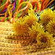 """Текстиль, ковры ручной работы. Ярмарка Мастеров - ручная работа. Купить Бабушкин коврик """"Одуванчики"""". Handmade. Желтый, ковер"""