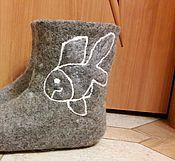 """Обувь ручной работы. Ярмарка Мастеров - ручная работа Домашние валенки """" рыбы"""". Handmade."""