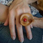 Украшения ручной работы. Ярмарка Мастеров - ручная работа Кольцо деревянное Капля Радости. Handmade.