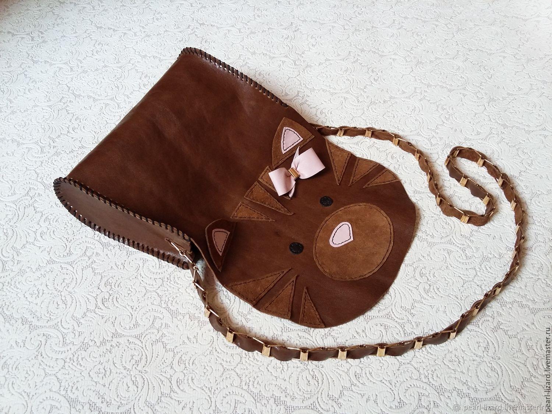 Детская сумочка кошка с бантиком – заказать на Ярмарке ...