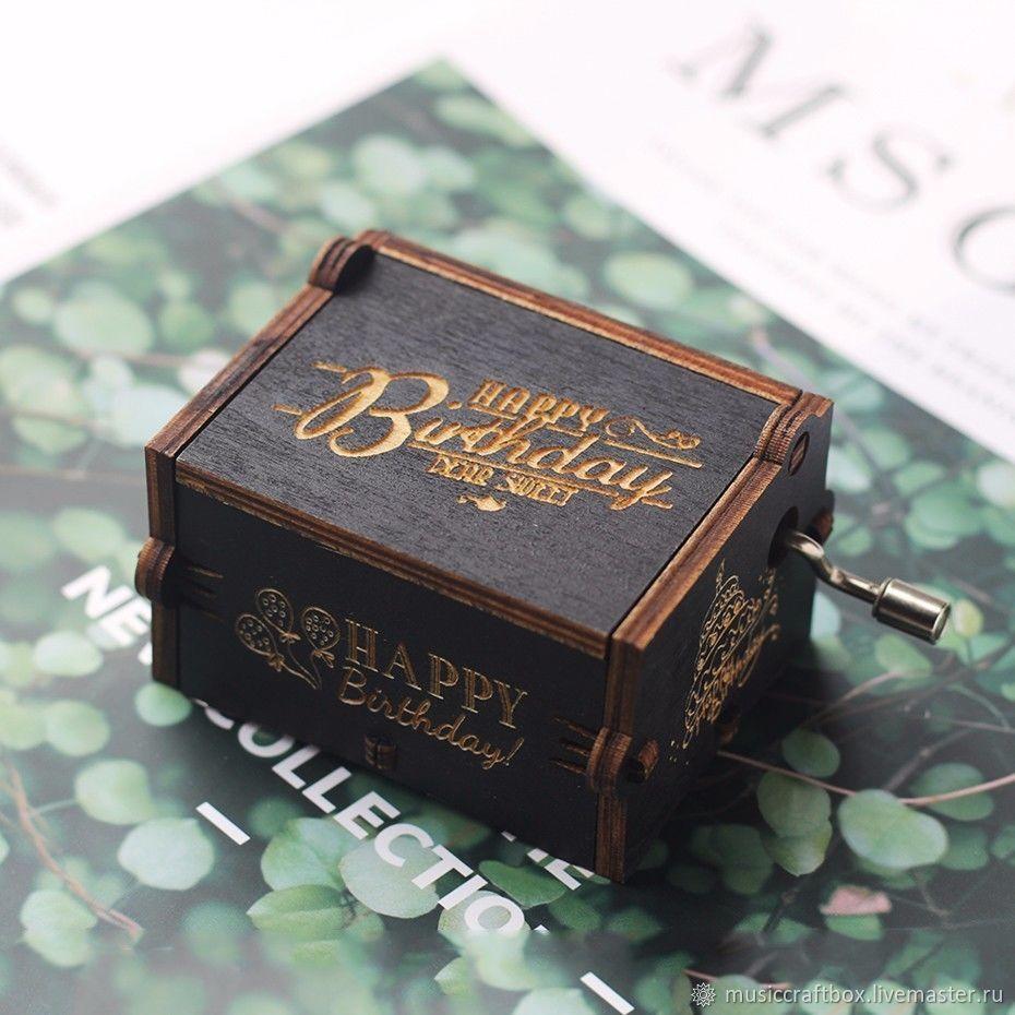 Black Music box Happy Birthday hurdy gurdy Happy Birthday, Musical Souvenirs, Krasnodar,  Фото №1