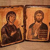 Картины и панно handmade. Livemaster - original item The twin Icons of Christ and the virgin.. Handmade.