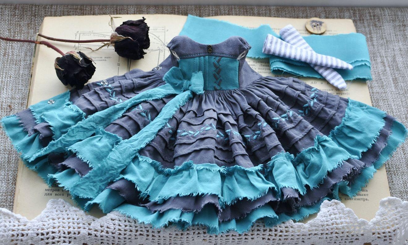 Платье для куклы Блайз, одежда для кукол. Blythe dress, Одежда для кукол, Таганрог,  Фото №1
