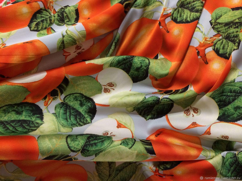 Dolce & Gabbana Шёлк-стрейч шикарный Яблочки оранжевые – купить в интернет-магазине на Ярмарке Мастеров с доставкой