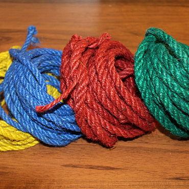 Materials for creativity handmade. Livemaster - original item Rope jute color 5-6 mm. Handmade.