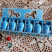 """Подарки к праздникам ручной работы. Ярмарка Мастеров - ручная работа Набор елочных игрушек-шишек """"Нежность"""". Handmade."""