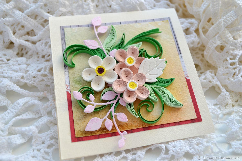 Фото открыток в технике квиллинг, поздравление днем рождения