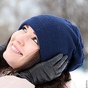Аксессуары ручной работы. Ярмарка Мастеров - ручная работа Шапка носок чулок бини носком синий, королевский, темно-синий. Handmade.