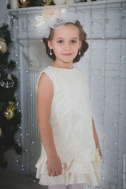 """Одежда для девочек, ручной работы. Ярмарка Мастеров - ручная работа. Купить Детские платье """"Рэтро"""". Handmade. Золотой, платье для девочки"""