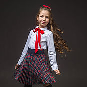 Одежда ручной работы. Ярмарка Мастеров - ручная работа Красивая детская блузка с кружевом (104). Handmade.