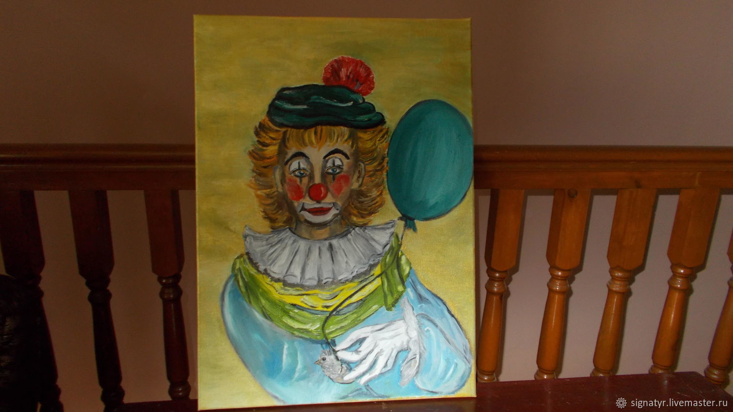 Clown with ball oil on canvas, Pictures, Orenburg,  Фото №1