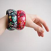 Украшения handmade. Livemaster - original item A set of bracelets: Wooden painted boho style bracelets. Handmade.