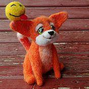 Куклы и игрушки ручной работы. Ярмарка Мастеров - ручная работа Валяный лисенок. Handmade.