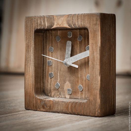 Часы настенные из цельного куска дерева.  Покрытие -специальный высококачественный, экологически чистый восковой состав.