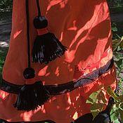 """Одежда ручной работы. Ярмарка Мастеров - ручная работа Вельветовая юбка """"Огонь"""". Handmade."""