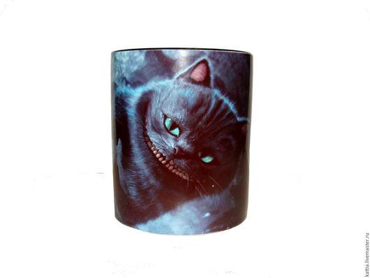 """Кружки и чашки ручной работы. Ярмарка Мастеров - ручная работа. Купить Кружка! """"Чеширский кот"""". Handmade. Бирюзовый, чашка для чая"""